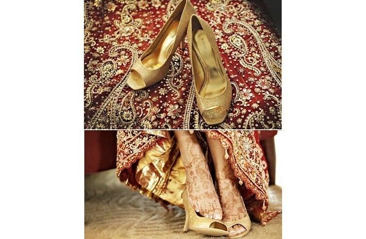 Bridal footwear for wedding
