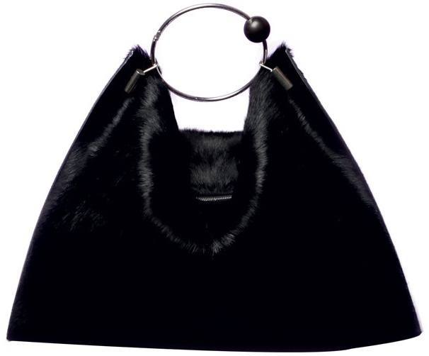 Céline-Black-mink-bag