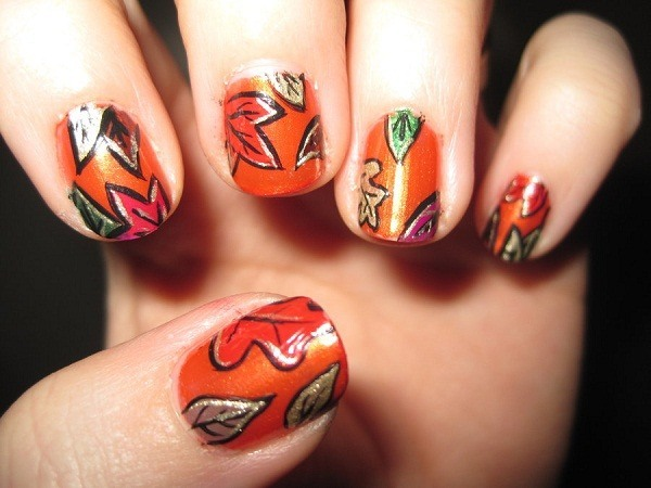 thanksgiving-autumn-leaves-nail-art-designs