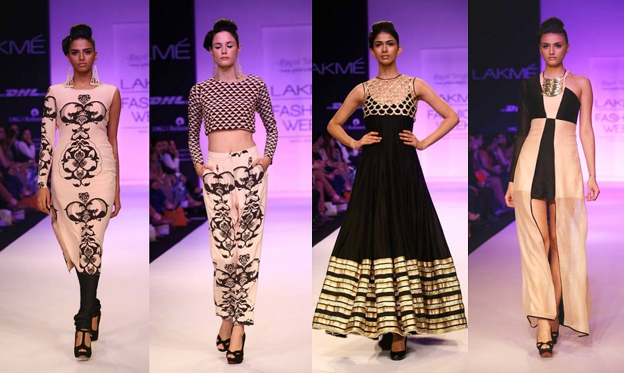 fusion ethnic wear payal singhal lakme fashion week