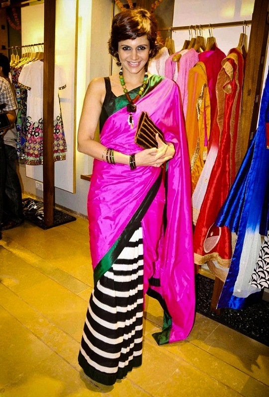 mandira bedi in masaba gupta saree