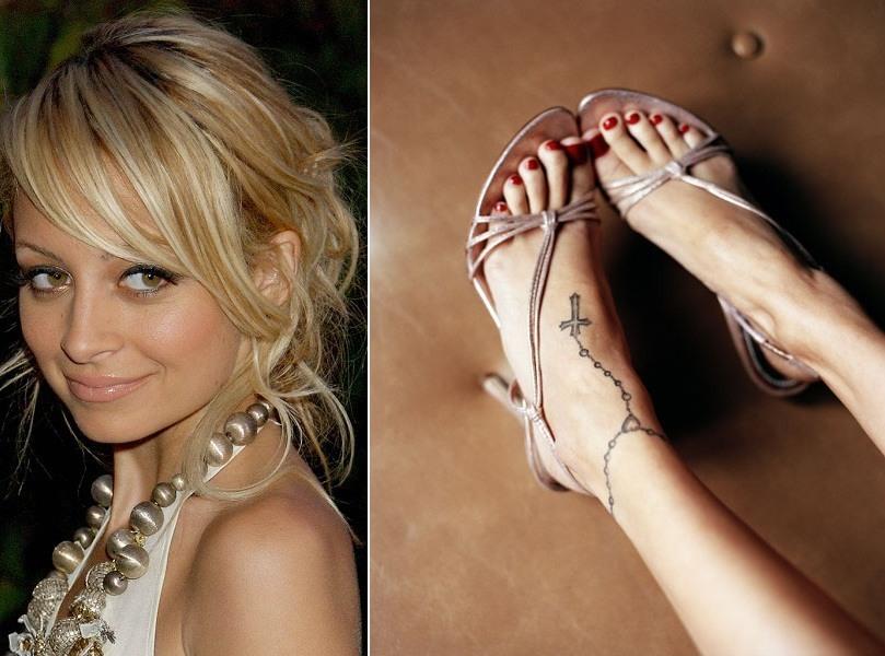 Nicole Richie Rosary Tattoo
