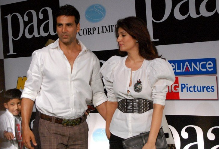 Akshay Kumar and Twinkle Khanna at the Premiere of the film Paa