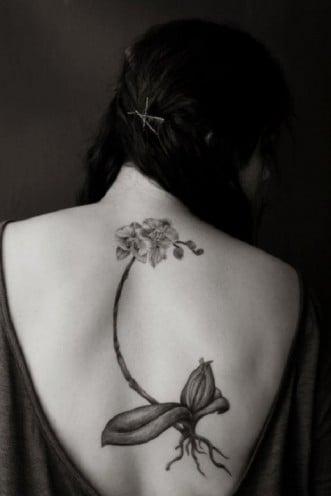 Beautiful Orchid Tattoo Designs