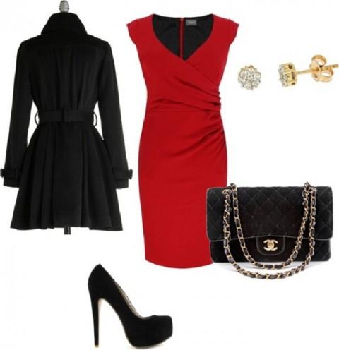 Bid Farewell 2013 in fall-red-dress