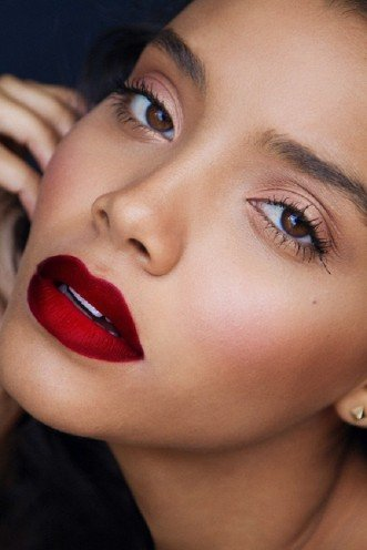 Dark Red Lipstick For Olive Skin