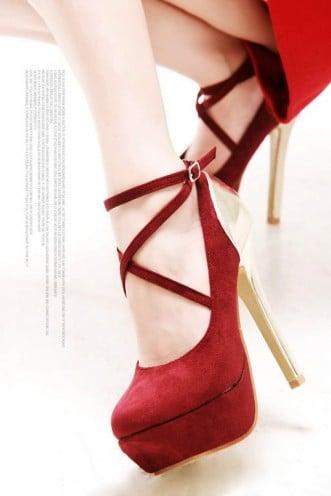 High heeled footwear