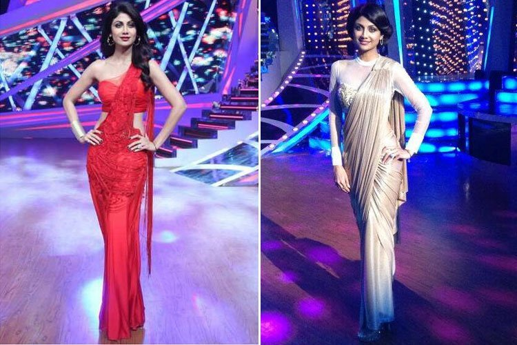 Looks Lady Shilpa Shetty Nach Baliye 6 Replica Saree