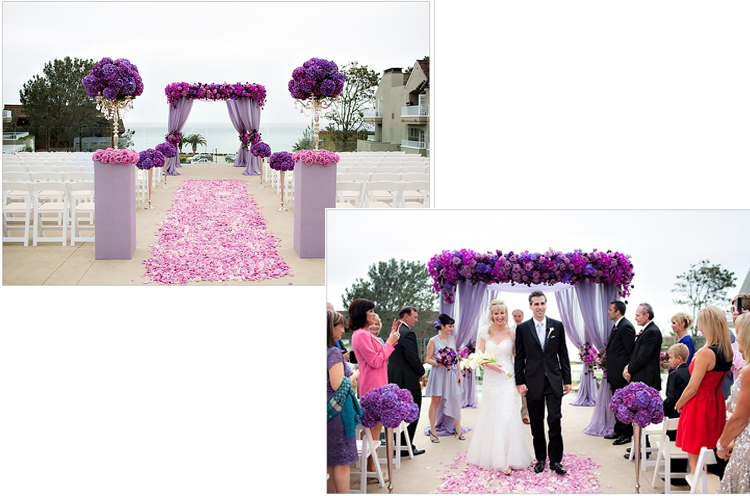 Pantone Radiant Orchid Wedding Decorations