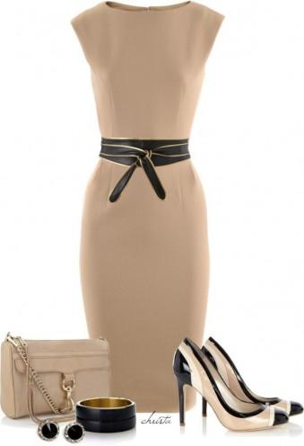 Shift dress for column shaped body