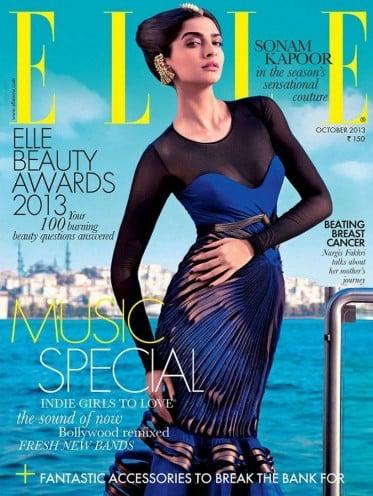 Sonam Kapoor on Cover of Elle Magazine