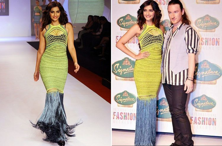 Sonam Kapoor walks the ramp for Mark Fast
