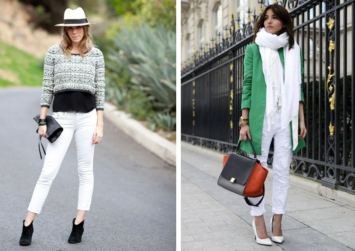Tops with white jeans