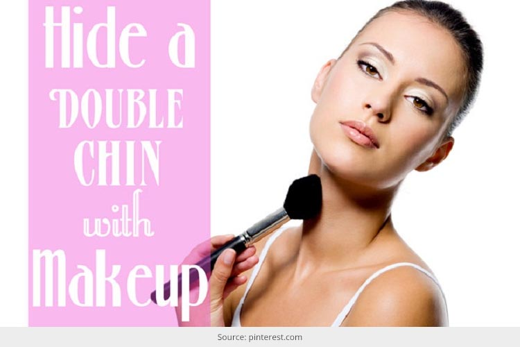 how to hide a double chin with makeup