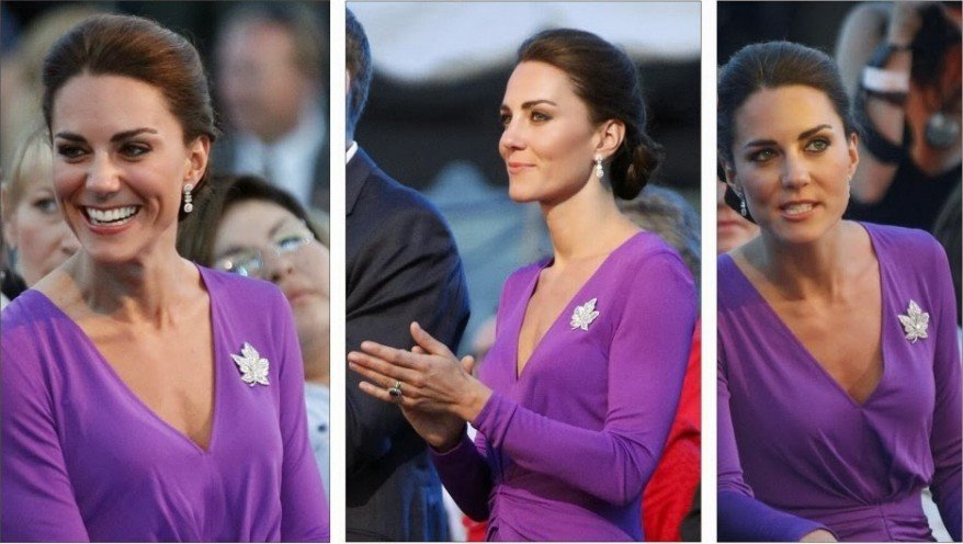 kate middleton in radiant orchid purple dress