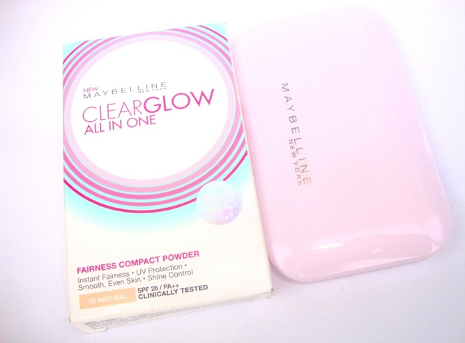 maybelline clearglow all in one compact powder