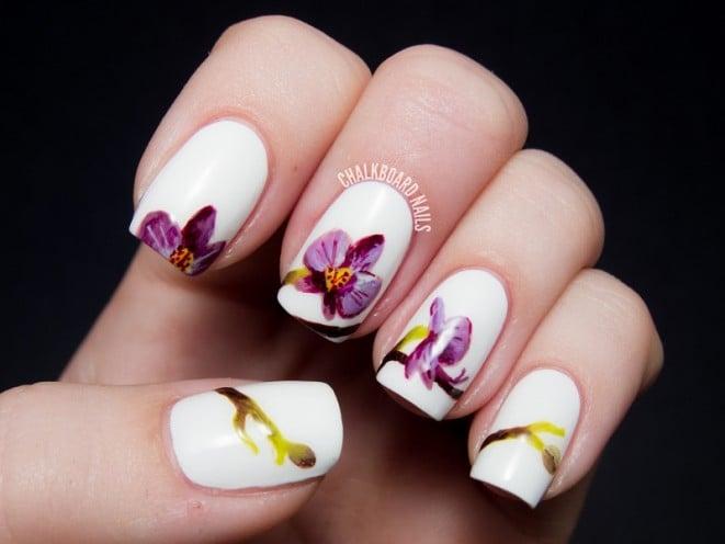 pantone radiant orchid nail art