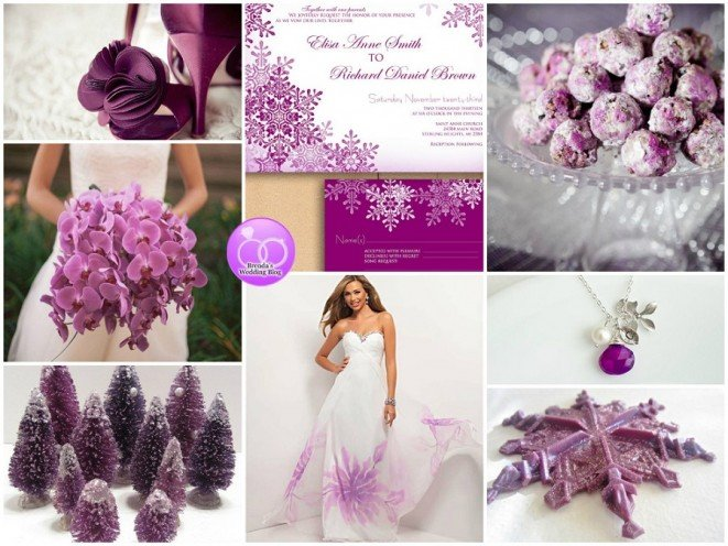 radiant orchid christmas wedding inspiration