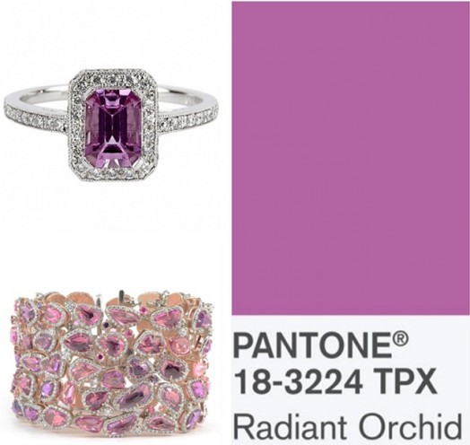 radiant orchid purple color jewelry trend