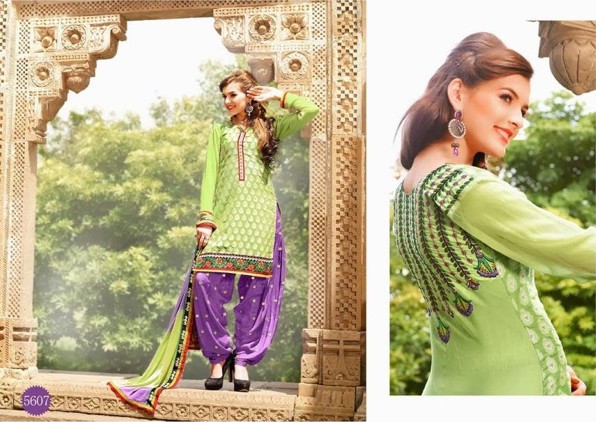 lohri collection mint green patiala suit