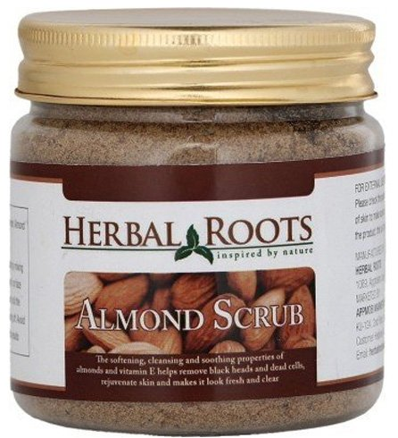Herbal Roots Almond Face and Body Scrub
