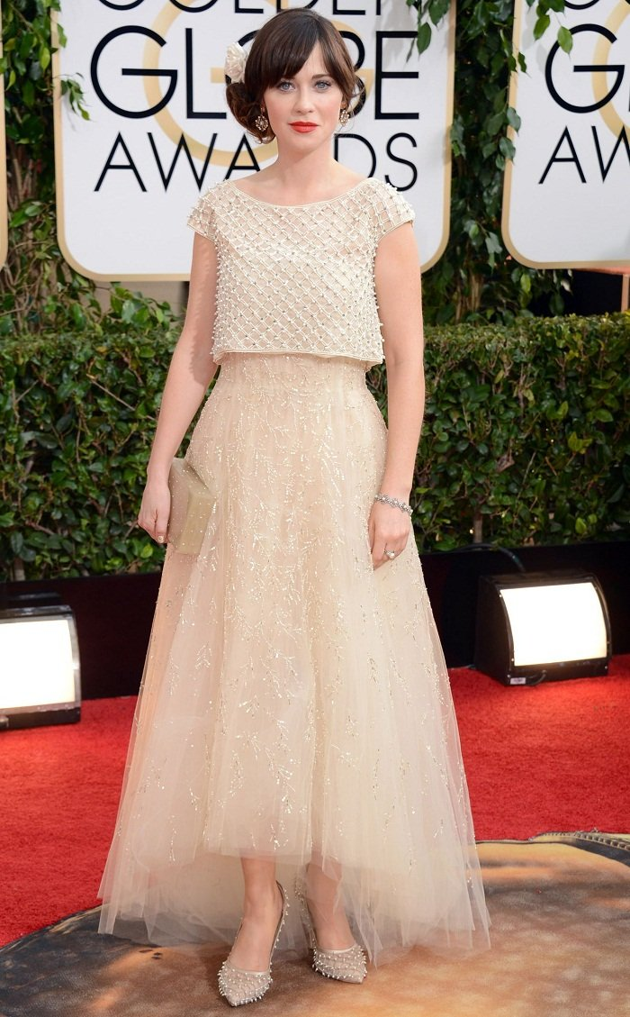 Zooey-Deschanel-golden-globes-red-carpet-2014