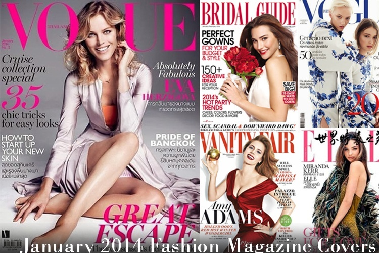 January 2014 Fashion Magazine Covers