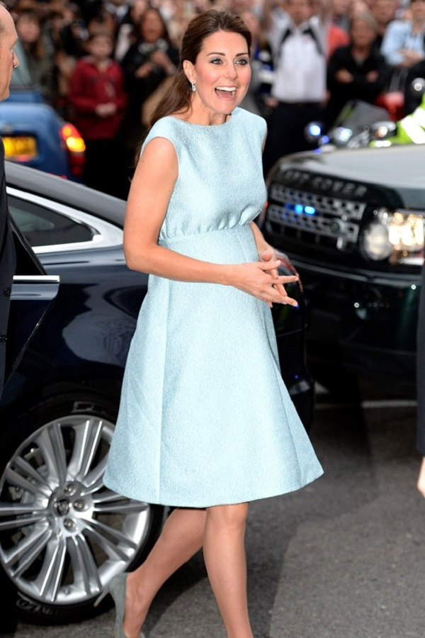 kate middleton pregnant Emilia Wickstead cocktail gown