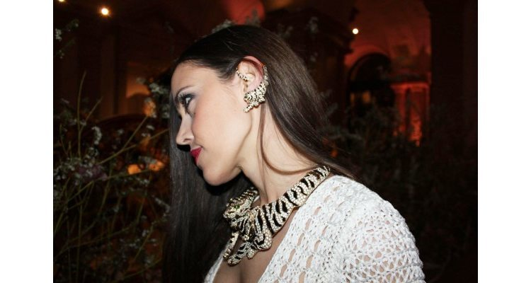 Roberto Cavalli's tiger ear cuffs