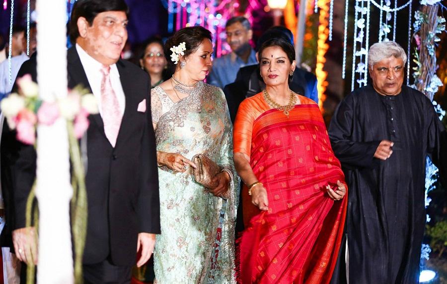 shabana-azmi-javed-akhtar-Ahana-Wedding-Reception