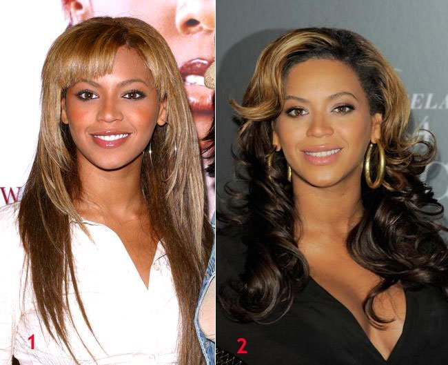 Beyonce hairstyle waves curly