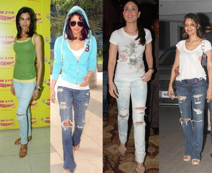celeb ripped jeans