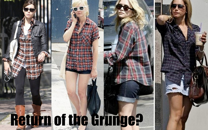 grunge flannel fashion