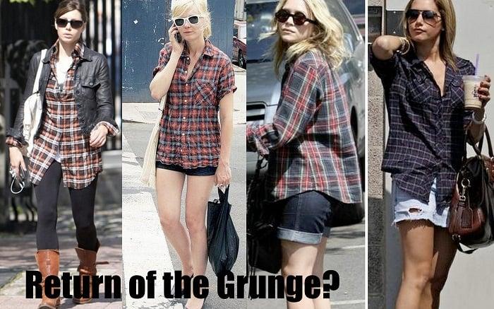 grunge flannel fashion