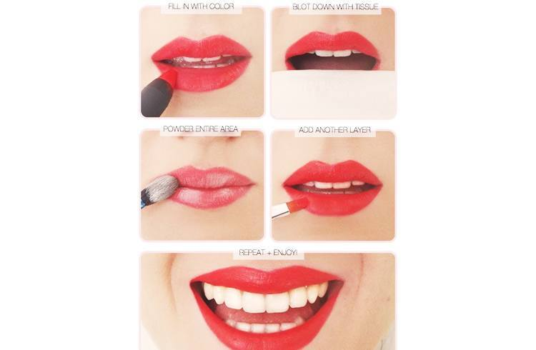 How to Wear the Matte Red Lipstick