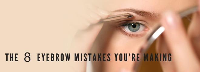 Augenbrauen Tipps: 8 häufige Fehler Sie sollten sofort aufhören