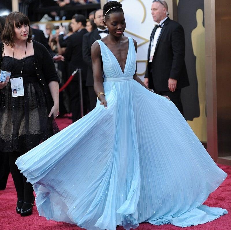 Lupita Nyong'o-oscars-2014-red-carpet