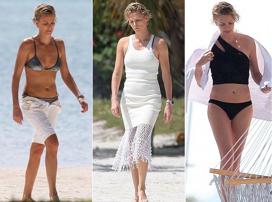 Charlize Theron Does A Miami Bikini Photoshoot For Mario