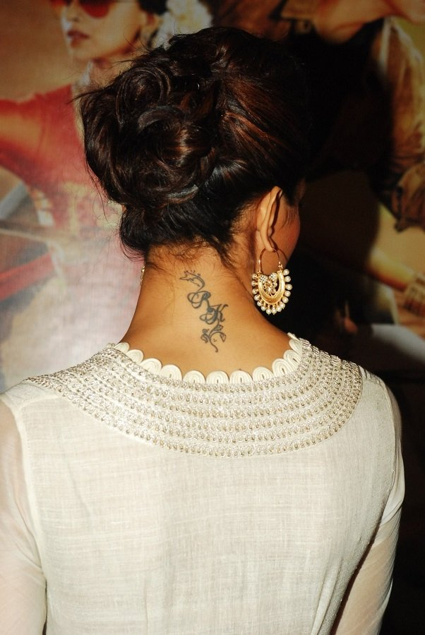is deepika padukone changing her rk tattoo to rs. Black Bedroom Furniture Sets. Home Design Ideas