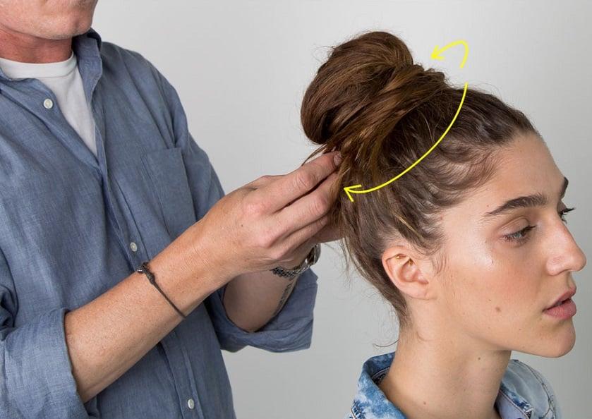 messy bun tutorial step3