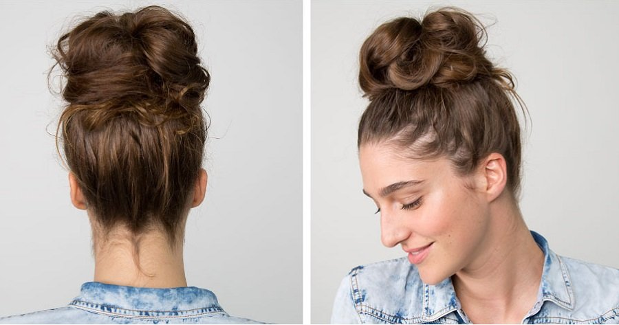 messy bun tutorial step5