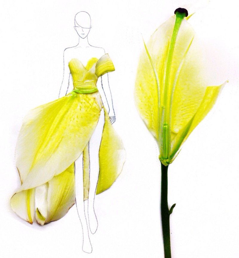 Floral Fashion Illustrations by Grace Ciao