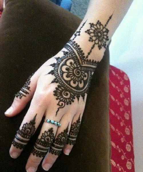basic mehndi designs for beginner