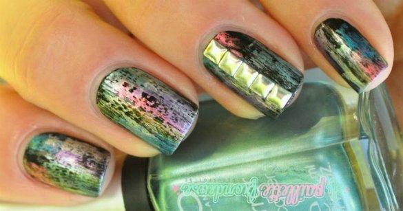 Chroma tones metallic nail art