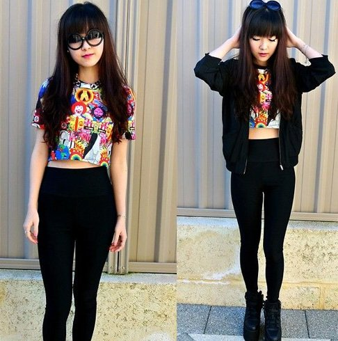 Crop Tops And Jeggings