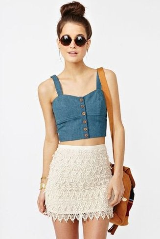 Denim Crop Tops