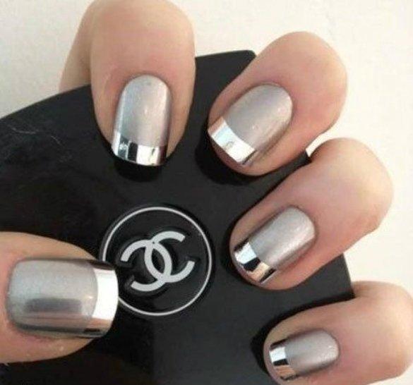 Metallic Nail Art Designs