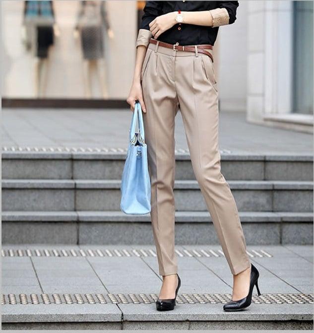 Women-OL-Solid-color-casual-font-b-pants-b-font-Wear-font-b-khaki-b-font