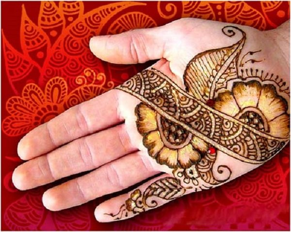 Simple Mehendi Designs on palm