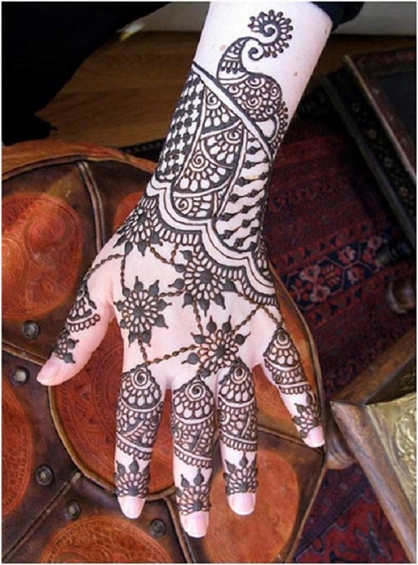 Simple Mehandi Designs For Full Hands